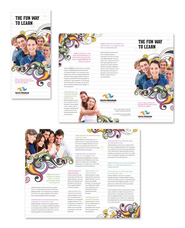software brochure templates - youth education program tri fold brochure template