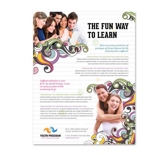 free educational flyers templates