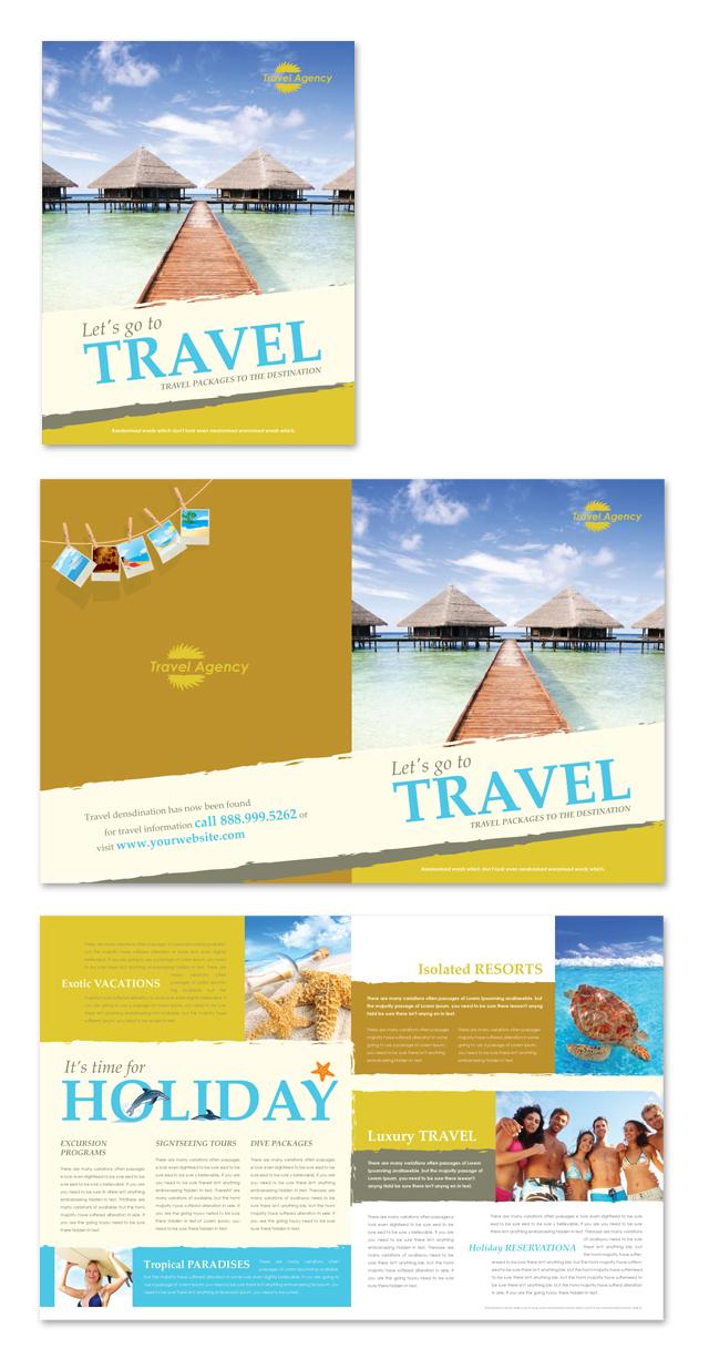 travel agency brochure template dlayouts graphic design blog. Black Bedroom Furniture Sets. Home Design Ideas