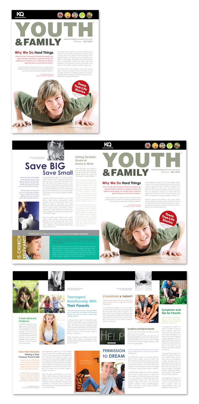 church youth group newsletter template word publisher