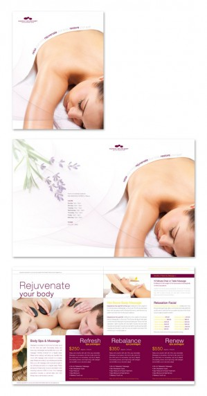 Dlayouts blog free tutorial graphic design templates for Massage brochure template