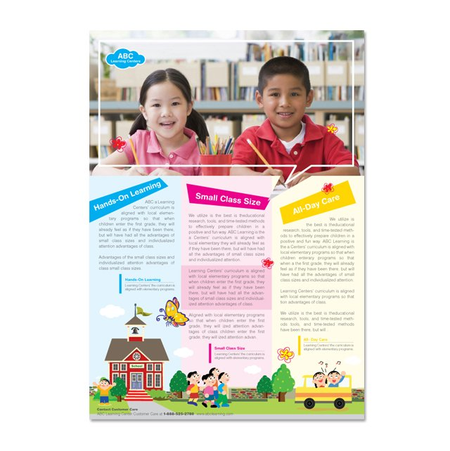 Learning Center & School Flyer Template - dLayouts Graphic Design Blog