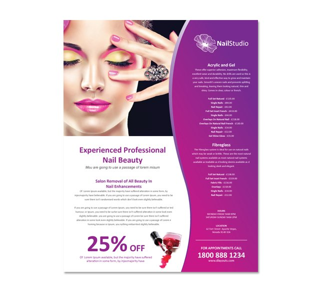 free spa brochure templates - free salon flyer design template joy studio design