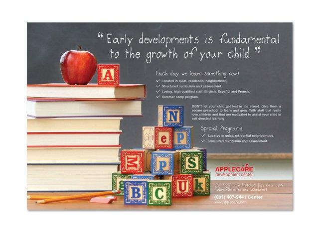 preschool kids  u0026 day care flyer template
