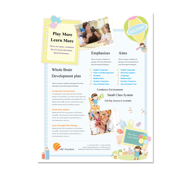 Daycare Flyer Template Free Militaryalicious