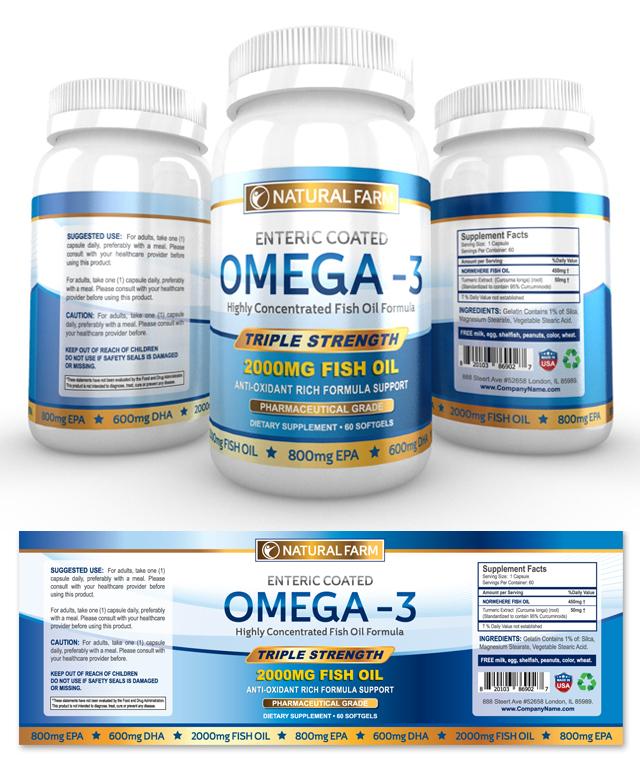 Vitamin Label Design Template