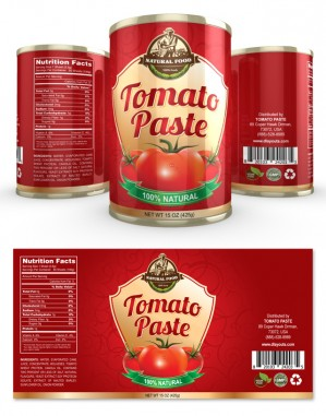 Tomato Paste Label Template  Label Design Templates