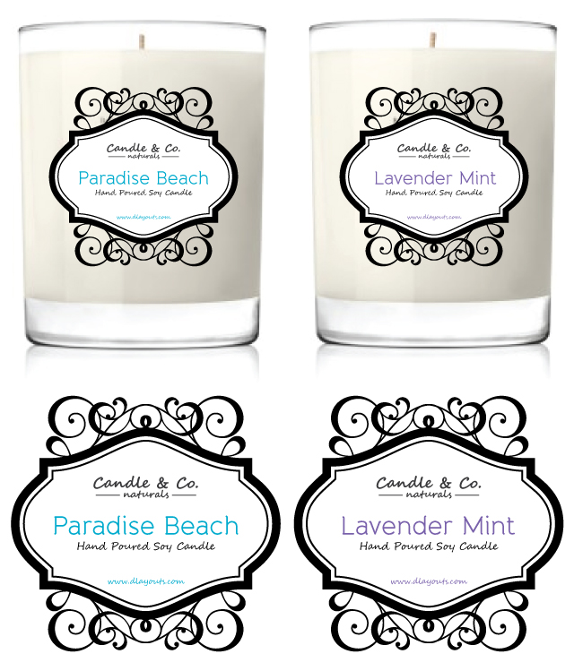 Handmade Soy Candles Label Template Dlayouts Graphic