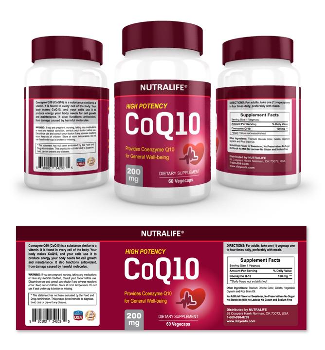 coq10 supplement label template